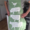 Butcher's Meat Cuts Kitchen Apron