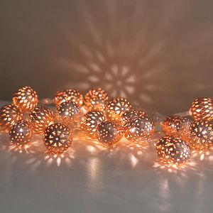 Copper Maroq Light Garland - christmas lighting