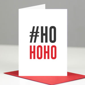 Social Media Hashtag Geeky Christmas Card Multi Pack