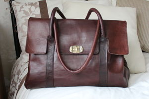 The Jayne Hand Crafted Leather Bag Birkin Style