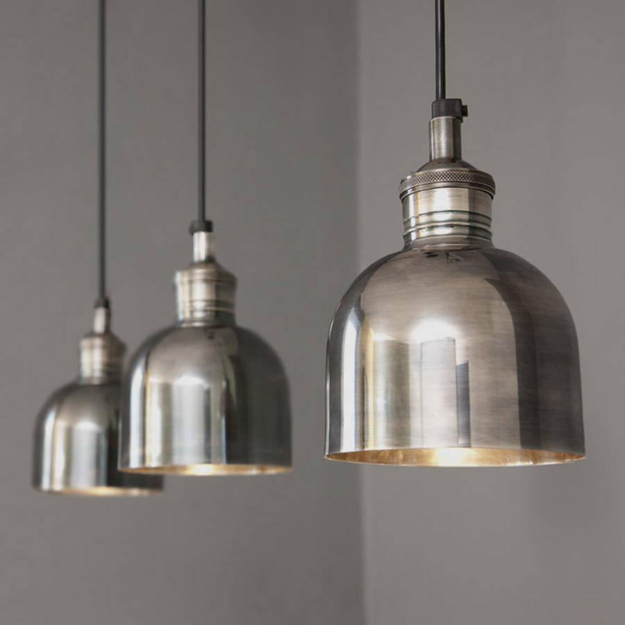 Flori Tarnished Silver Pendant Light By Rowen Amp Wren