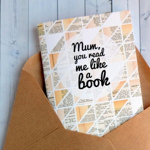 Mother's Day 'Like A Book' Notebook Card