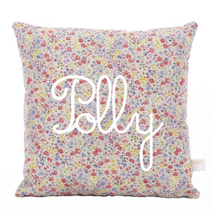 Phoebe Personalised Name Liberty Cushion - cushions