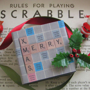 Personalised Handmade Scrabble Christmas Gift Box