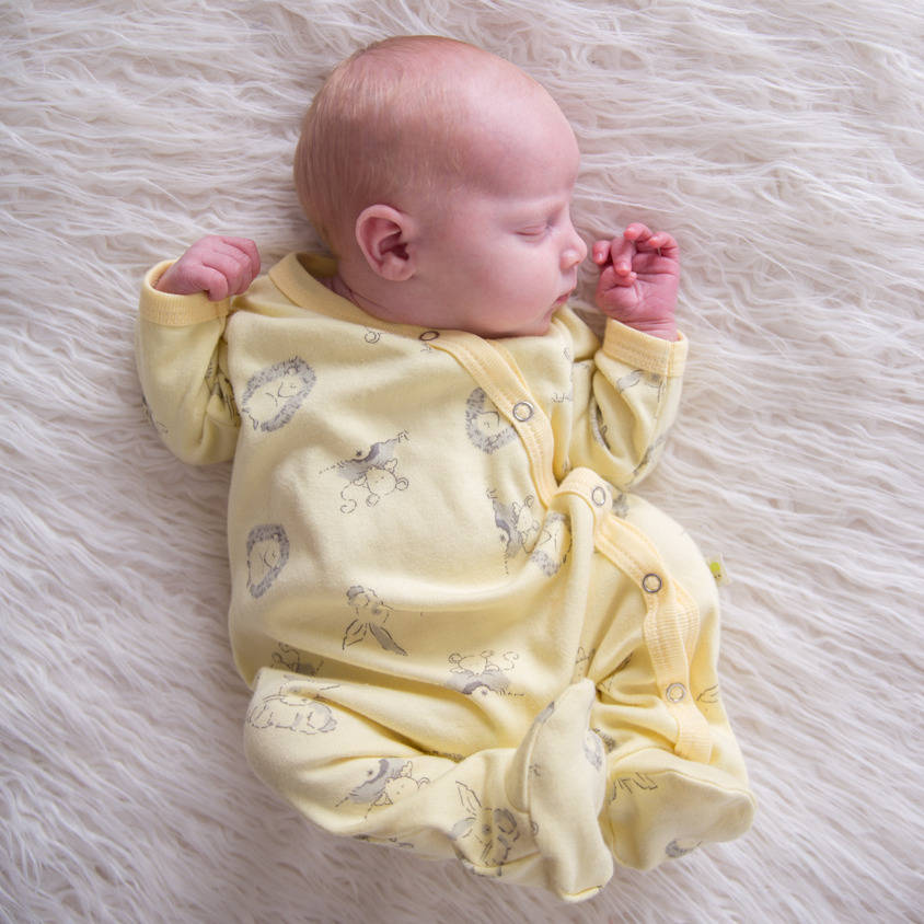 Woodland Sunshine Unisex Sleepsuit By Baby Acorn