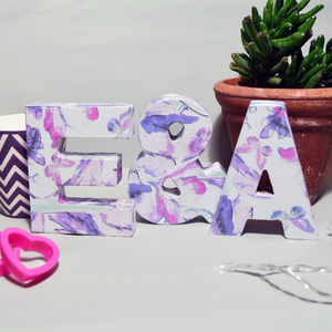 Personalised Butterfly Floral Decorative Letters - spring styling