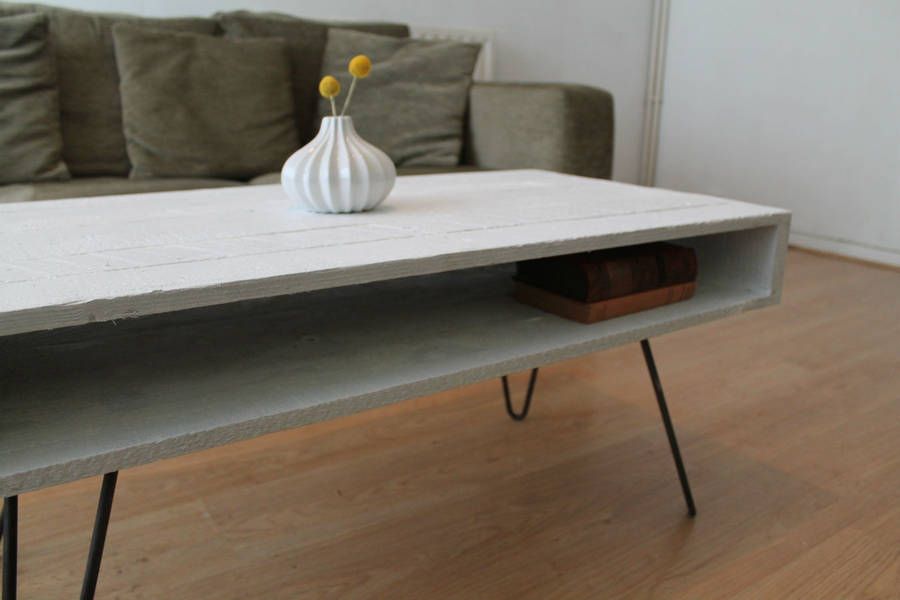 Pallet Coffee Table In Solid White By Gas Air Studios