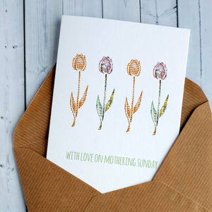 Tulip Mothering Sunday Card - cards & wrap
