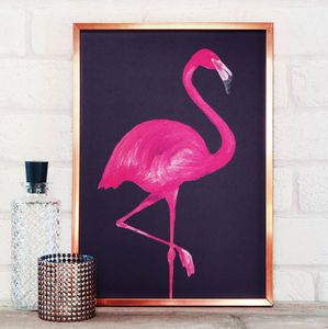 Flamingo Print A4 A3 - shop by subject