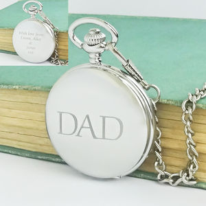 Personalised Dad Pocket Watch With Engraved Message - gifts from adult children