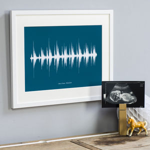 Personalised Baby Heart Beat Ultrasound Print - new baby gifts