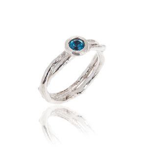 Double Band Kiss Ring Set With A Choice Of Gemstones - rings