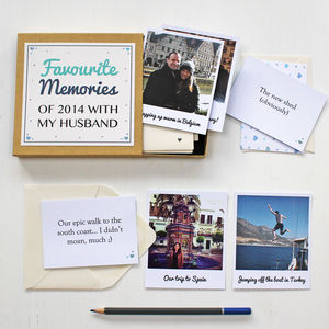 'Favourite Memories' Box - anniversary cards
