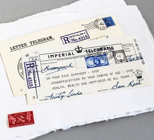 Personalised 18th Or 21st Birthday Telegram