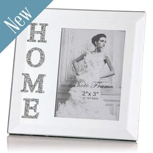 Mirrored Photo Frame With Swarovski Crystals - picture frames
