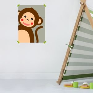 Children's Monkey Print