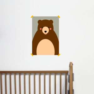 Children's Bear Print - posters & prints