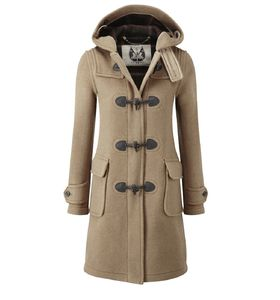 British Duffle Womens Long Duffle Coat