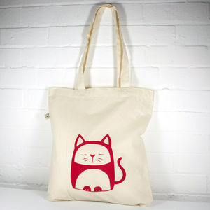 Contented Cat Organic Cotton Tote Bag