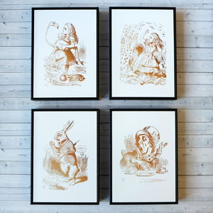 Alice In Wonderland Framed Illustrations - view all sale items