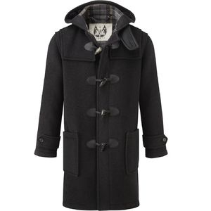British Duffle Men's Long Duffle Coat