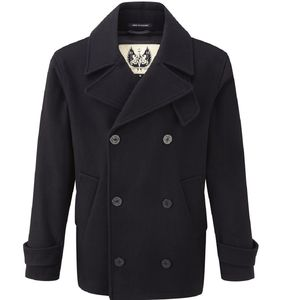 British Duffle Mens Reefer Jacket - coats & jackets