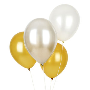 Pack Of 10 Metallic Balloons - room decorations