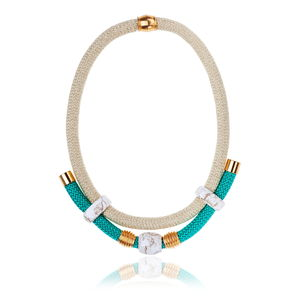 Make A Statement Necklace - marble inspired trend