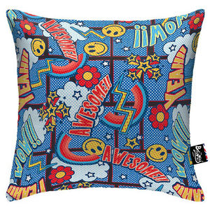 Awesome Blue Boingy Cushion - cushions