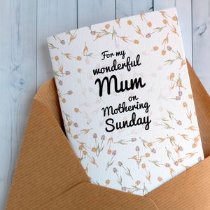 Mothering Sunday Notebook Card