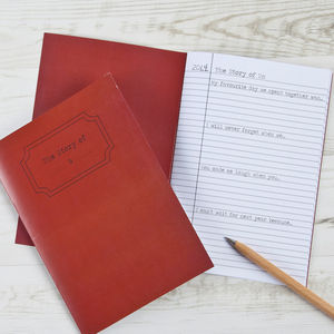 Valentine's The Story Of Us Notebook - view all sale items