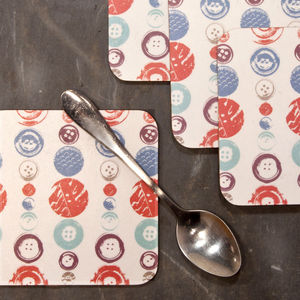 Buttons Coasters - kitchen