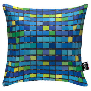 Bertie Blue Boingy Cushion