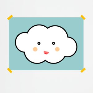 Children's Cloud Print - nursery pictures & prints