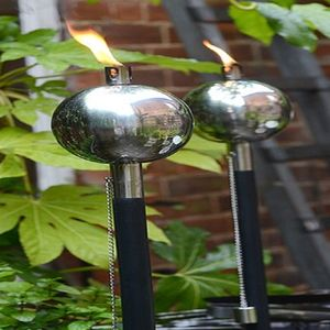 Black 'Salm' Outdoor Torch With Free Citronella Oil 1l - lights & lanterns