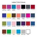 Ladies T-Shirt Colours