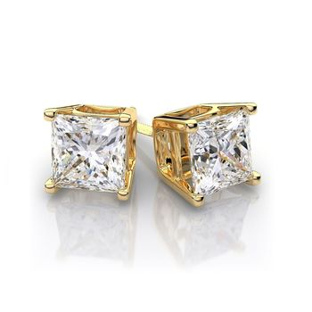 9ct Gold Earrings With Swarovski Crystals