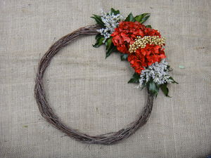 Large Emerald Real Flower Wreath