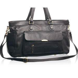 Women's Soft Leather Overnight Bag - bags & purses