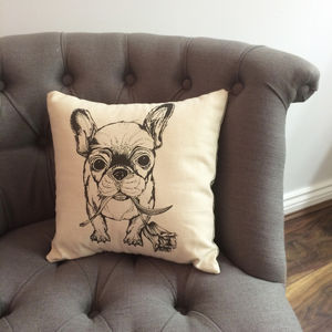 Tulip Frenchie Cushion - new in home