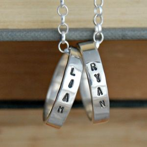 Personalised Sterling Silver Ring Necklace