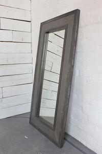 Steel Clad Framed Floor Standing Distressed Mirror - mirrors