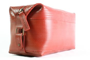Reclaimed Fire Hose Wash Bag