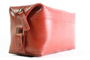 Reclaimed Fire Hose Wash Bag - frequent travellers