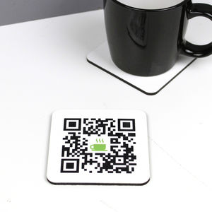 Personalised Qr Code Coaster