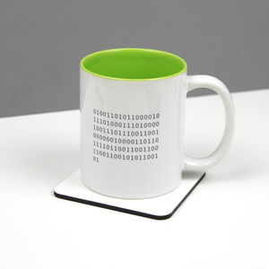 Personalised Binary Code Mug - mugs