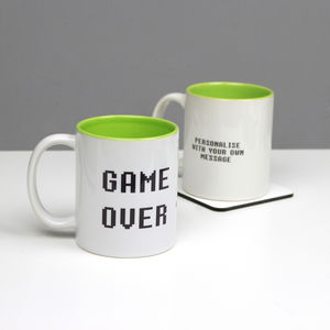 Personalised Game Over Geeky Mug