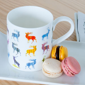 Multiple Stag Fine Bone China Mug - mugs