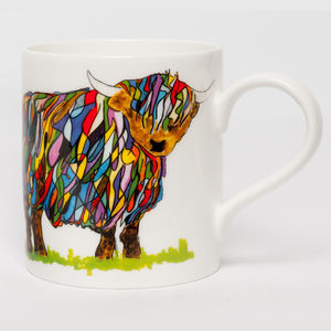 Bright Highland Cow Mug - kitchen