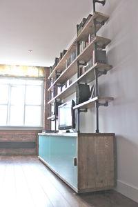 Glass Sliding Doors Storage And Shelving Unit